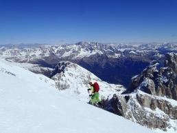 Ultimi metri prima di cima Burelloni