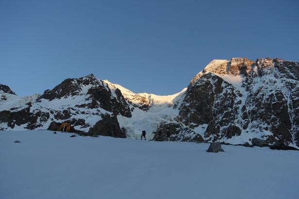 Tramonto arrivando al bivacco Messner